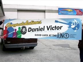 Daniel Victor Juno Banner Design and Install