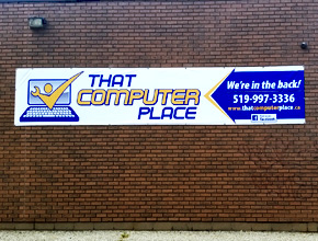 That Computer Place Wall Banner Design Print and Install