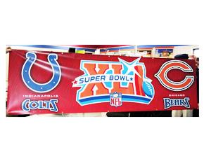 Superbowl XLI Banner Print
