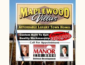 Maplewood Villas Developmental Signage