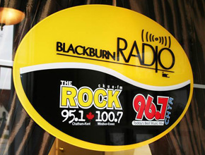 Blackburn Radio Interior Dimensional Signage Design Fabrication and Install