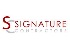 Signature Contractors Logo Design