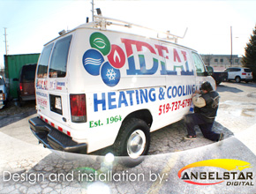 Ideal Heating and Cooling Vehicle Wrap Design Print and Install