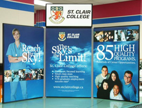 St Clair College Tabletop Trade Show Display