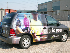 St.Clair College Vehicle Graphic Print and Install