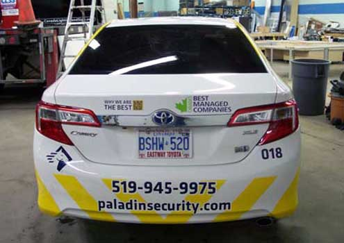 AngelStar vehicle graphics and production in Windsor, Ontario