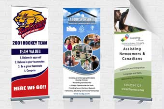 Banner design and printing in Windsor by AngelStar Digital