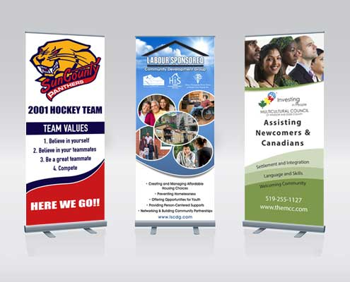 Banner and banner stand design in Windsor from AngelStar Digital