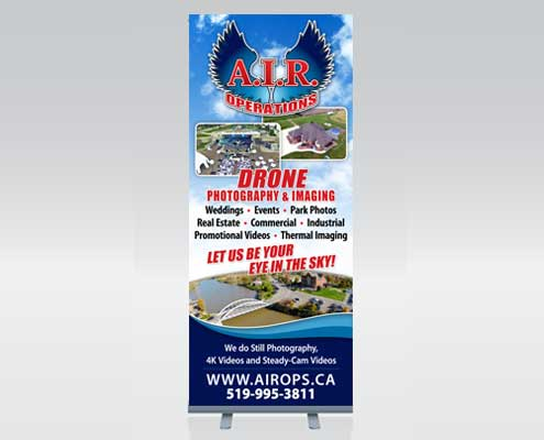 Banner stand design and sales in Windsor, Ontario