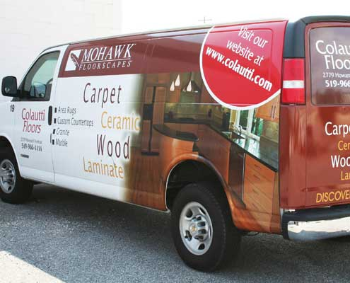 Full van wrap in Windsor by AngelStar Digital