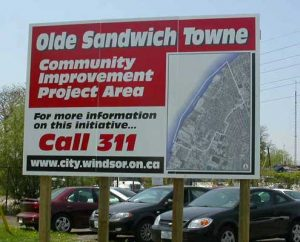Development sign design and printing in Windsor