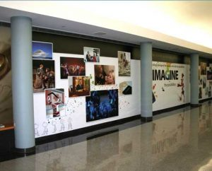 Large format design and printing of wall graphics