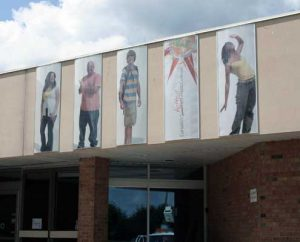 Out door wall graphics