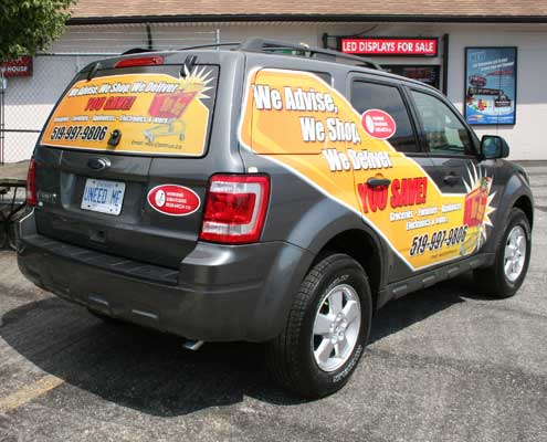 SUV vehicle wrap and design by AngelStar Digital