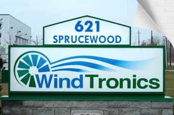 Sign manufacturing in Windsor