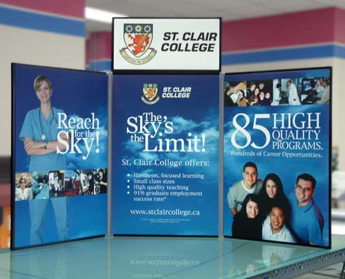 Table top banner stand display