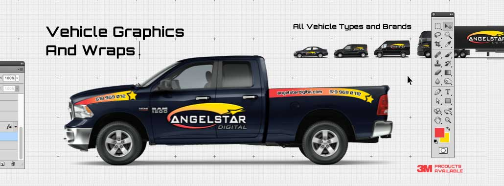 Vehicle graphics and wraps in Windsor, Ontario