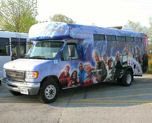 bus vehicle graphics design and installation in Windsor