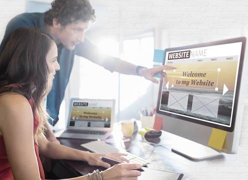 Website designer creating a website design in Windsor