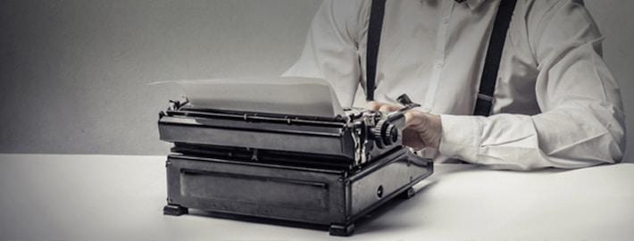 Copywriter typewriter