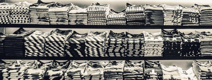 T-Shirts which were screen printed or digitally printed