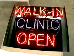 Walk in Clinic Neon Sign by Angel Star