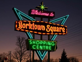 Yorktown Neon Sign by Angel Star