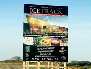 Ice Track Developmental Sign by Angel Star