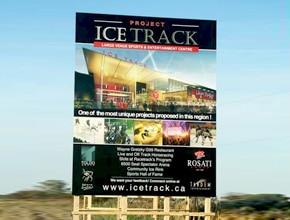 Ice Track Developmental Sign by Angel Star