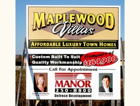 Maplewood Villas Developmental Sign by Angel Star