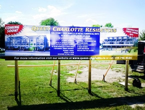 Charlotte Residences Sign by Angel Star Digital