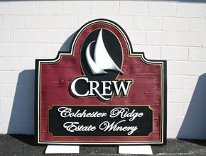 Crew Monument Sign by Angel Star