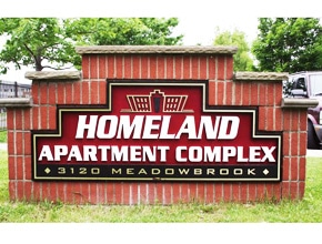 Homeland Apartments Monument Sign by Angel Star
