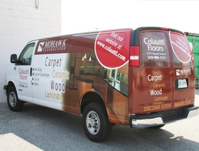 Colautti Floors Vehicle Wrap Design by Angel Star