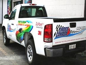 Cross Canada Truck Vehicle Wrap Design by Angel Star