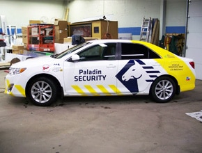 Paladin Security Vehicle Wrap Design by Angel Star