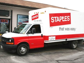Staples Vehicle Wrap Design by Angel Star