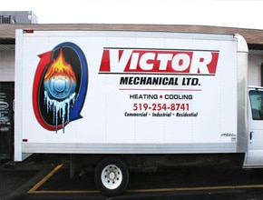 Victor Mechanical Vehicle Wrap Design by Angel Star