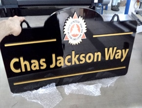 Jackson Way Wall Sign by Angel Star