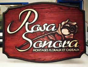 Rosa Sonora Wall Sign by Angel Star