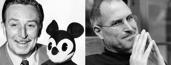 Walt Disney and Steve Jobs entrepreneur