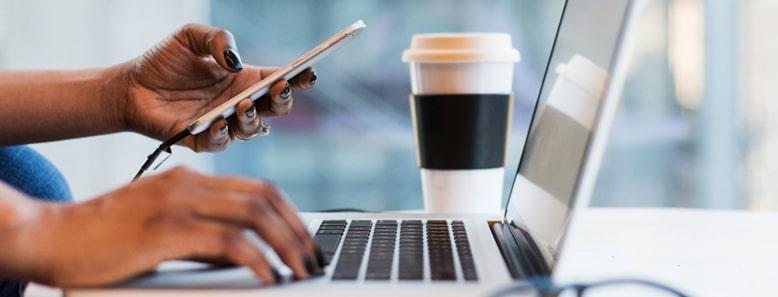 entrepreneur on their laptop